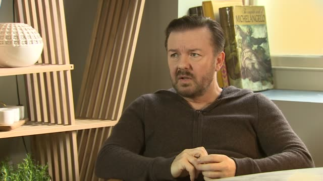 special correspondents showing on netflix: ricky gervais interview; england: london: int ricky gervais interview sot - ricky gervais stock videos & royalty-free footage