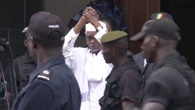 a special court will hand down the verdict in the landmark war crimes trial of former chadian dictator hissene habre on monday with prosecutors... - war crimes trial stock videos and b-roll footage