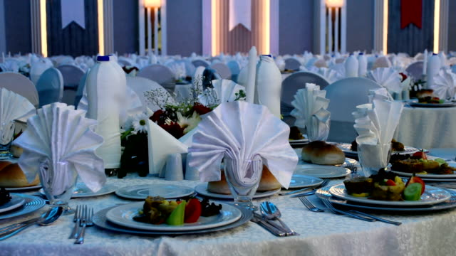 特別なディナー - 祝賀式典点の映像素材/bロール