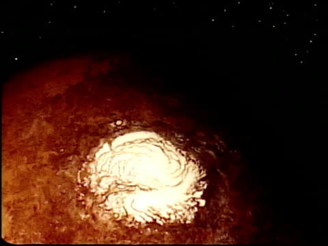 special effects footage created by tom smith, who later headed up the special effects team at industrial light & magic / views of planet mars,... - icecap stock videos & royalty-free footage