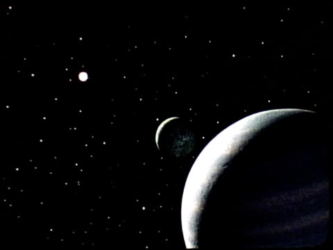 Special effects footage created by Tom Smith who later headed up the Special Effects team at Industrial Light Magic / views of planet Neptune and one...