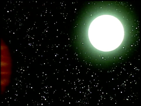 special effects footage created by tom smith who later headed up the special effects team at industrial light magic / images of the sun the emergence... - sistema solare video stock e b–roll