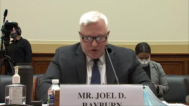 vídeos de stock, filmes e b-roll de special envoy for syria joel rayburn of the state department testifies before the house foreign affairs committee that united states must carry out a... - political action committee
