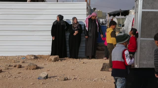 Special envoy of the UN refugee agency and movie star Angelina Jolie held a press conference at the Zaatari camp for Syrian refugees on January 28...