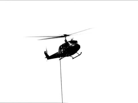 Spezialeinheit Aussteigen aus dem Hubschrauber