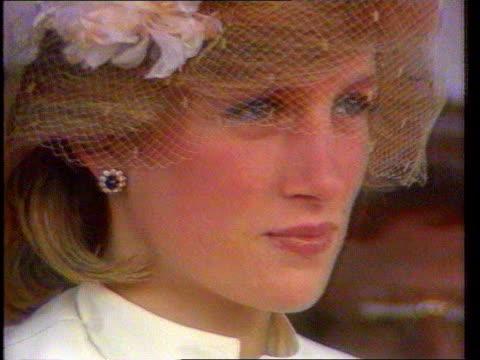 funeral of princess diana 1600 1700 lib diana princess of wales special - principessa video stock e b–roll