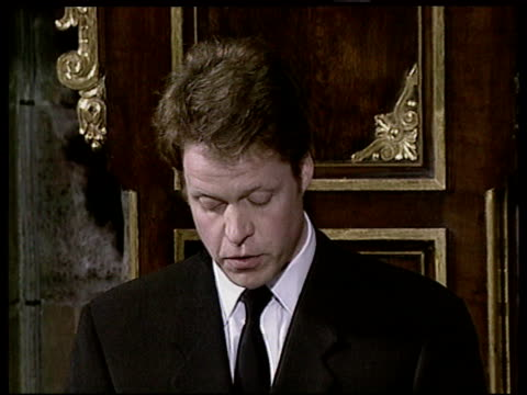 funeral of princess diana 1900 2003 itn bv earl spencer up to pulpitt earl spencer tribute sot you do not need to be seen as a saint/ would miss out... - funeral stock videos & royalty-free footage