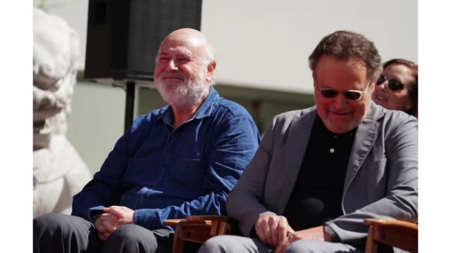 Special guests Billy Crystal and Rob Reiner attend the Hand and Footprint Ceremony at TCL Chinese Theatre IMAX on April 12 2019 in Hollywood...