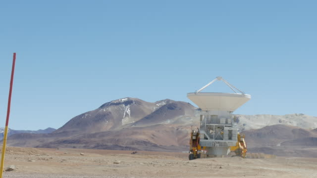 special made truck moving radio telescope antenna - atacama large millimeter array stock videos and b-roll footage