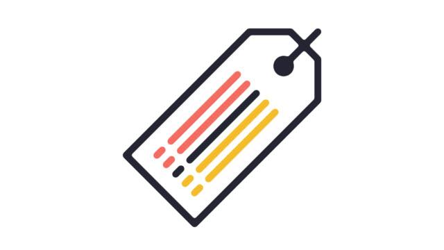 特別オファー ・ アルファで割引価格タグ ライン アイコン アニメーション - パーセント記号点の映像素材/bロール