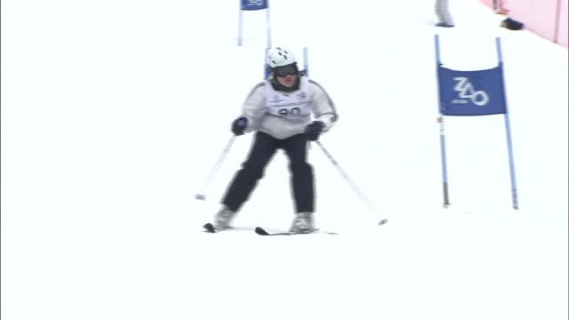 special olympics - slalom skiing stock videos & royalty-free footage