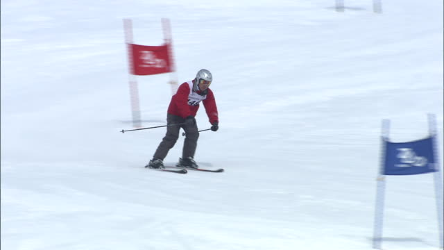 special olympics - skiing and snowboarding stock videos and b-roll footage