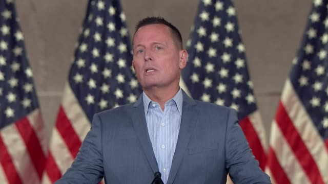 special presidential envoy for serbia and kosovo peace negotiations richard grenell says in remarks to the 2020 republican national convention that... - paris agreement stock videos & royalty-free footage