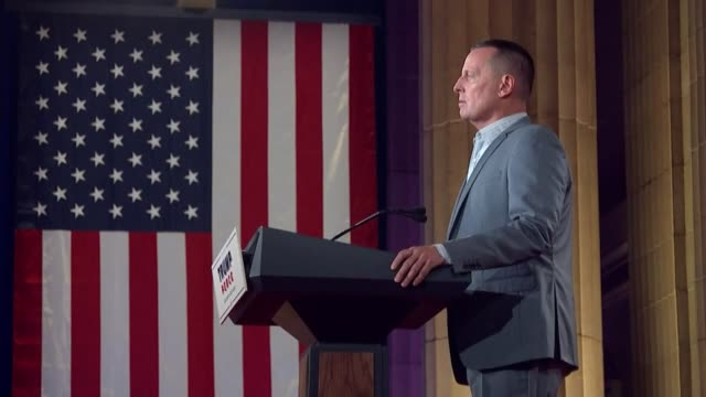 special presidential envoy for serbia and kosovo peace negotiations richard grenell says in remarks to the 2020 republican national convention that... - witness stock videos & royalty-free footage