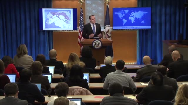 Special Presidential Envoy for the Global Coalition to Counter ISIL Brett McGurk tells press at a State Department news conference that in 2014 ISIS...