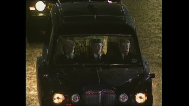 princess diana's coffin moved 2000 2040 england london itn especial itn st james palace 2018 hearse with coffin along out of palace pan to bv away... - bright stock videos & royalty-free footage