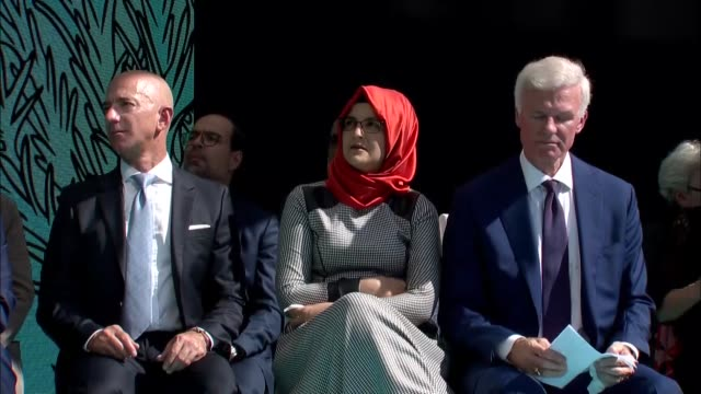 un special rapporteur agnes callamard nobel laureate yemeni activist tawakkol karman and egyptian politician ayman nour speak during a memorial... - executive director stock videos & royalty-free footage