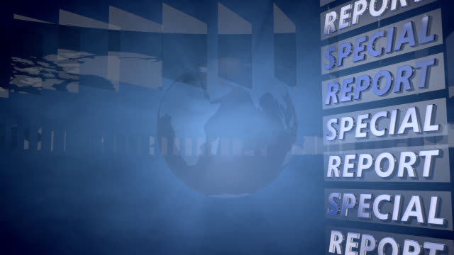 Special Report Background with a rotating Globe