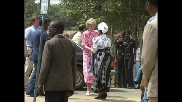 the prince and princes of wales in west africa nigeria lagos int prince charles prince of wales and princess diana princess of wales touring lagos... - journey stock videos & royalty-free footage