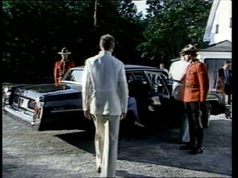 the prince and princess of wales in canada: week 2:; 22.6.83 canada: ottawa: seq barbeque; fires roaring, mass crowds; prince charles, prince of... - ottawa stock videos & royalty-free footage