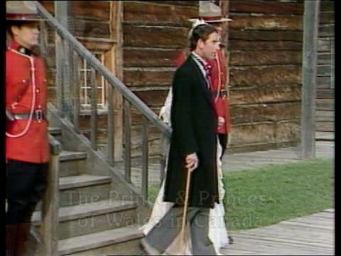 the prince and princess of wales in canada week 3 opening titles montage from week's events prince and princess of wales in 19th century dress down... - film montage stock videos & royalty-free footage