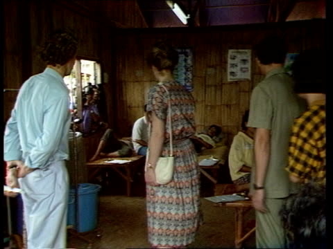 the princess royal in south east asia thailand ban napho laotian refugee camp princess anne princess royal asking is children are usually so quiet... - writing instrument stock videos & royalty-free footage