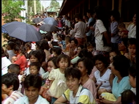 the princess royal in south east asia thailand ban napho laotian refugee camp rooftops of refugee camp track rl laos refugees tms lots refugees... - forbidden stock videos & royalty-free footage