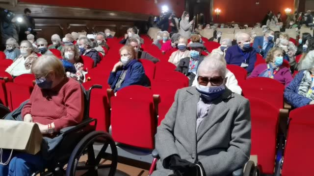 special theater performance has been organized in spanish capital in an effort both to support the theaters that were closed for a long time and to... - patchwork stock videos & royalty-free footage