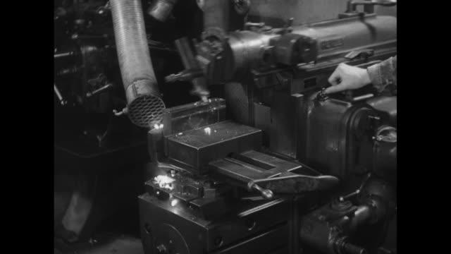 specialized metallic lathe shaving glowing bits of uranium - uranium stock videos & royalty-free footage