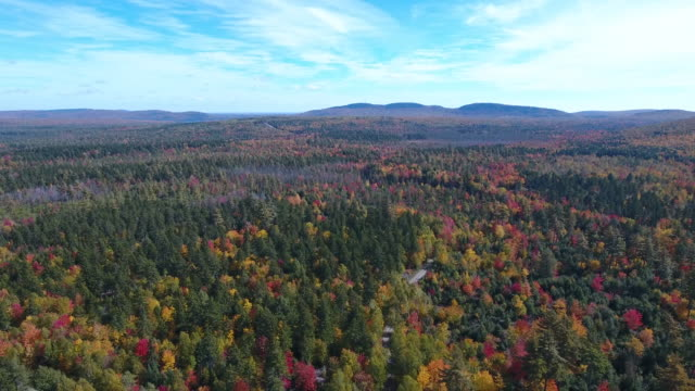 a spectacular aerial view of small town america. topsfield, maine, usa - maine stock videos & royalty-free footage