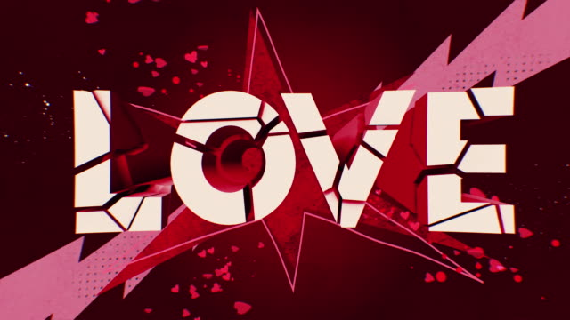 spectacular bright and dynamic 3d love titles on a bright background. for romantic postcards, weddings, or valentine's day. - world title stock videos & royalty-free footage