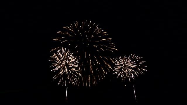 色鮮やかな花火大会 - firework display点の映像素材/bロール