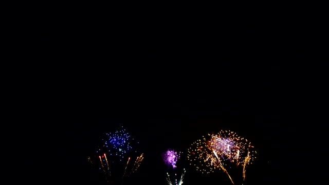 Spectacular colorful firework display