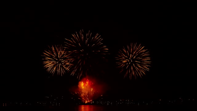 Spectacular Fireworks Finale in HD - Stock Footage