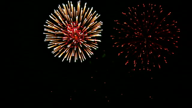 Espectaculares fuegos artificiales con Audio