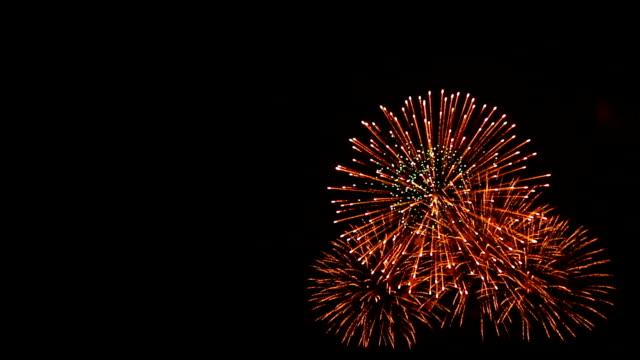 Spektakuläre Feuerwerk mit Audio