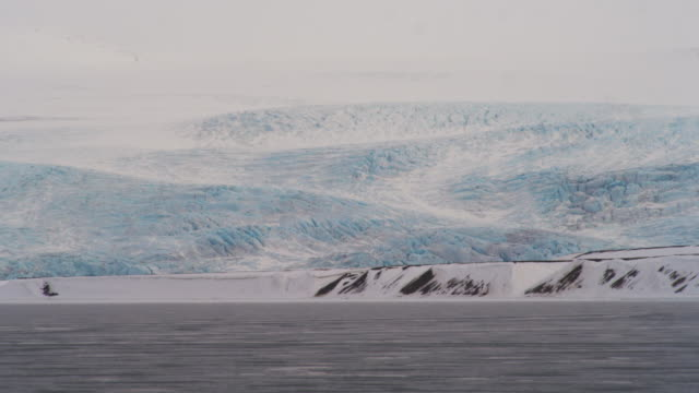 spectacular glacier in spitsbergen, svalbard - svalbard islands stock videos & royalty-free footage