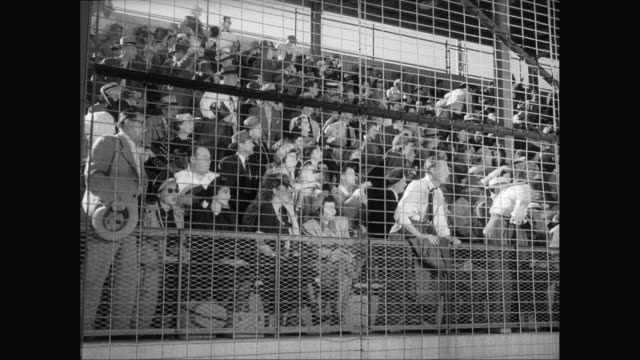 ms spectators cheering at sporting event / united states - 1960 stock videos & royalty-free footage