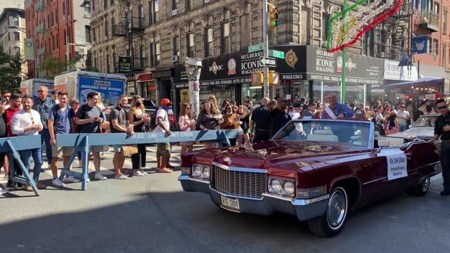 spectators watch the grand procession during the feast of san gennaro festival in little italy on september 25, 2021 in new york city. this year's... - italian culture stock videos & royalty-free footage
