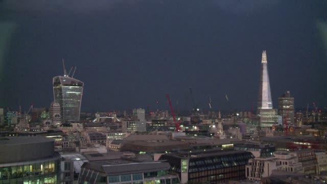 a spectaular lightning storm struck the uk overnight friday - lightning strike stock videos and b-roll footage
