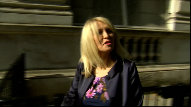 speculation ahead of cabinet reshuffle; t07101327 / esther mcvey mp comment as along - 内閣改造点の映像素材/bロール