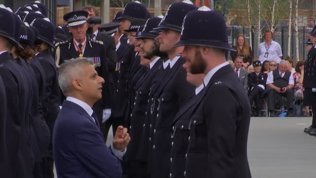 speculation over future of metropolitan police commissioner bernard hoganhowe england london hendon police college ext metropolitan police cadets... - sadiq khan stock-videos und b-roll-filmmaterial