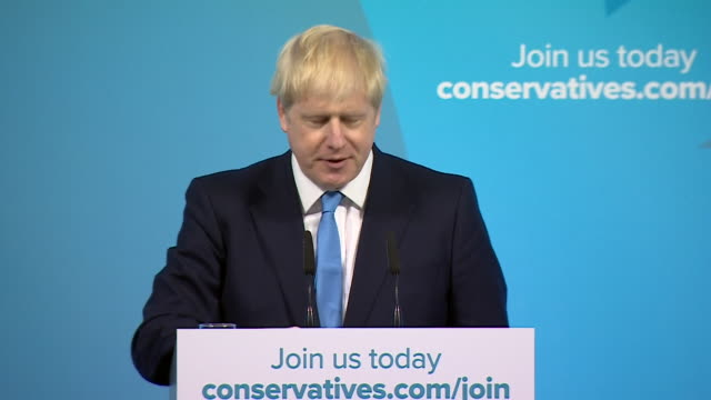 speech boris johnson after being announced conservative leader about conservative party we conservatives have best insights into human nature we... - success stock videos & royalty-free footage