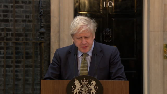 "speech boris johnson pm, general election victory speech in downing street, about people who want to remain in the eu ""this one nation government... - winning stock videos & royalty-free footage"