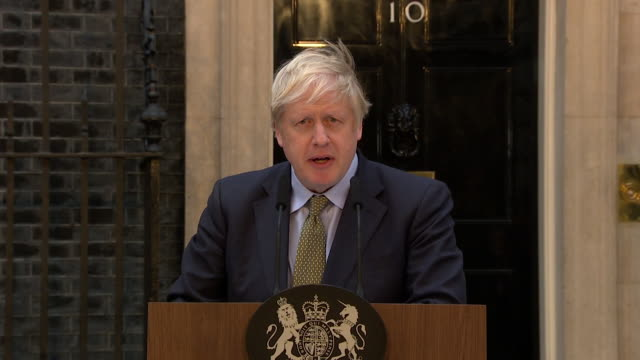 speech boris johnson pm general election victory speech in downing street about the nhs the priority is we should focus on the nhs - winning stock videos & royalty-free footage