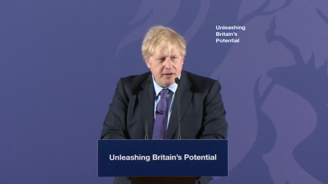 "speech boris johnson pm on future trade deals now uk has left the eu ""we want a comprehensive free trade agreement similar to canada"" - ""bbc news"" stock videos & royalty-free footage"