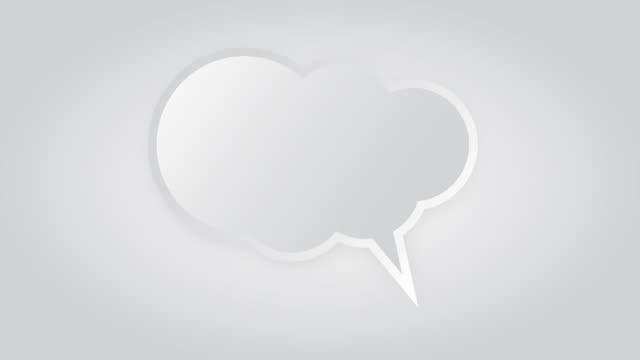 speech bubble animation - speech bubble stock videos & royalty-free footage