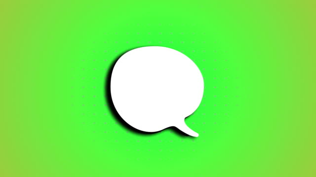 speech bubble animation - speech bubble stock videos & royalty-free footage