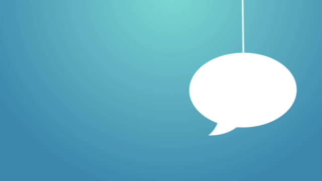 speech bubble hanging on a wire - speech bubble stock videos & royalty-free footage
