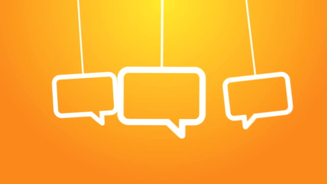 speech bubbles hanging on a wire - candidate stock videos & royalty-free footage